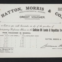 Hatton and Moris Credit Voucher Back